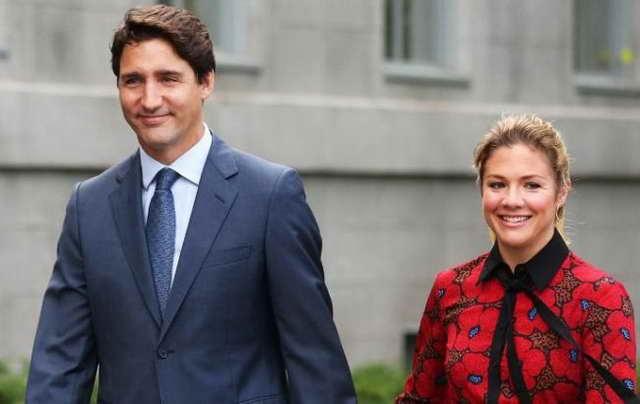 Премьер-министра Канады Джастин Трюдо и Софи его жена