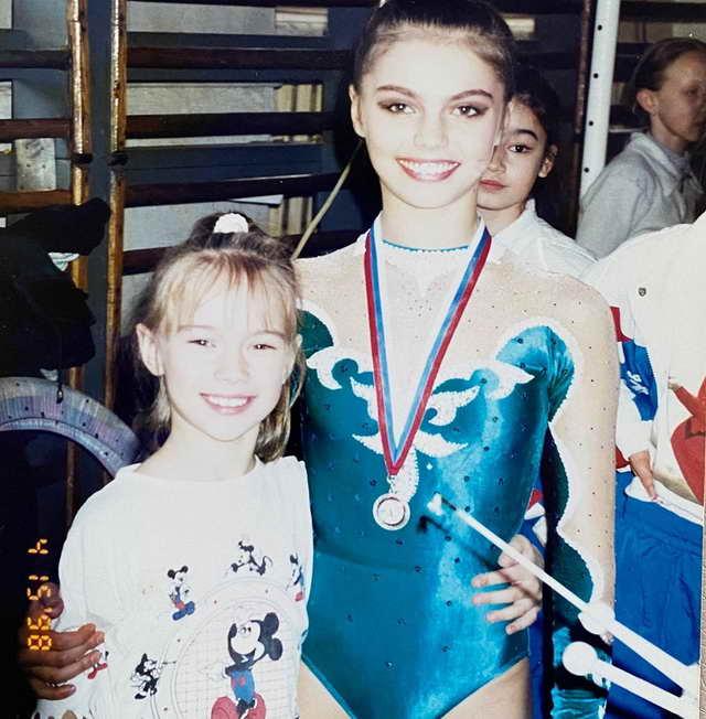 Яна Кошкина и Алина Кабаева, 15 апреля 1998