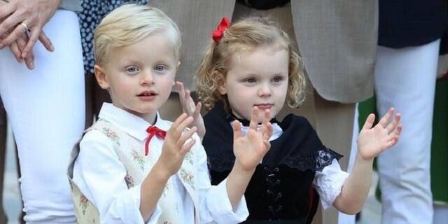 Принц Монако Жак и принцесса Габриэлла Гримальди