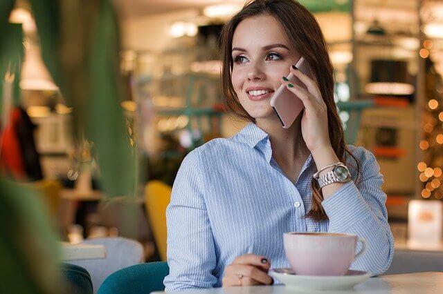 кофе девушка телефон