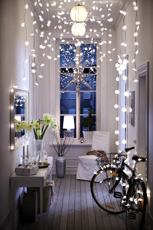 использования светодиодных гирлянд в интерьере