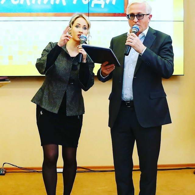 Евгения Шохина с отцом Александром Шохиным