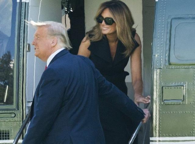 Дональд Трамп с двойником Мелании Трамп