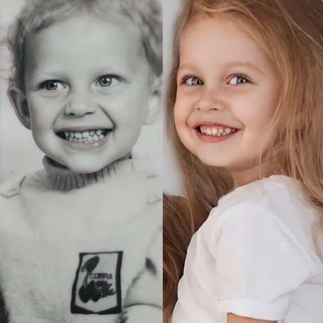 Рита Дакота и дочь Мия в детстве