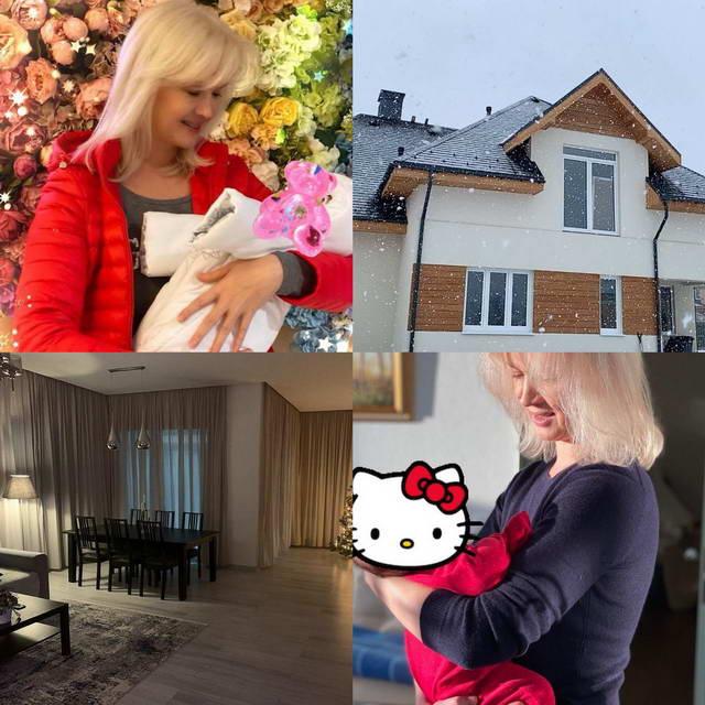 Елена Стебенёва с внучкой Мией и ее новый дом