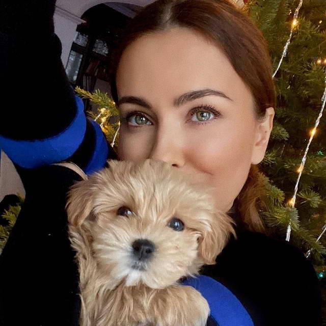 Ани Лорак и ее собака Тоша