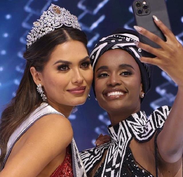 «Мисс Вселенная-2021» Андреа Меса из Мексики, Зозибини Тунци Мисс Вселенная 2019