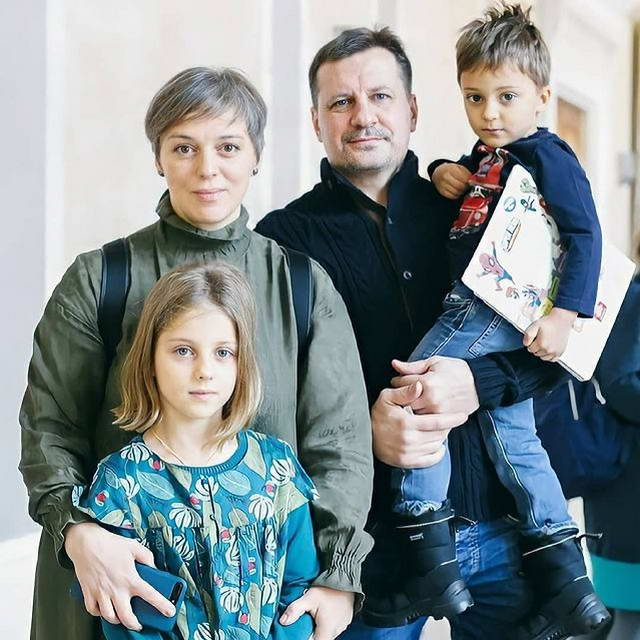 Нелли Уварова, Александр Гришин с детьми дочка Ия и сын Игнатий