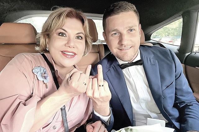 Марина Федункив и муж Стефано Маджи