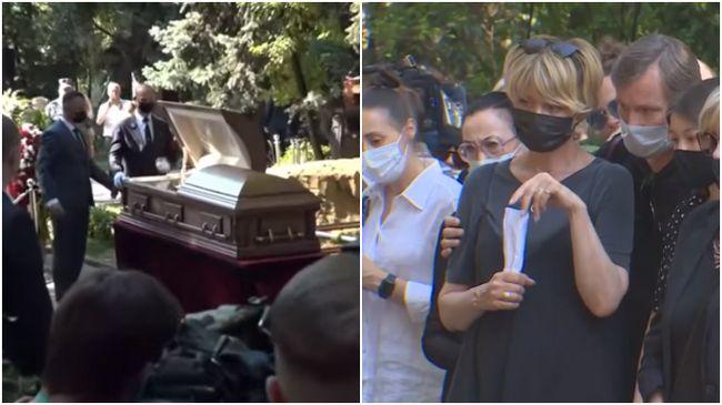 то высыпала Юлия Меньшова над гробом отца